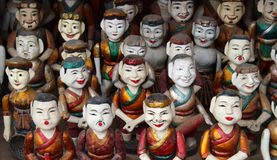 Marionetas del agua de Vietnam imagen de archivo