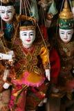 Marionetas del birmano de Coloful Imagen de archivo