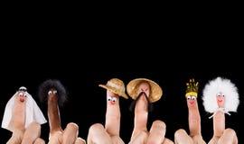 Marionetas del finger de la diversidad Foto de archivo libre de regalías