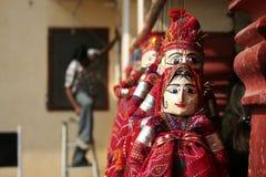 Marionetas del paño de Rajastani en vestido tradicional Fotos de archivo