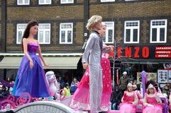 Marionetas en el desfile de Papá Noel Foto de archivo libre de regalías