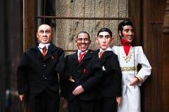 Marionetas en la calle en Praga Foto de archivo