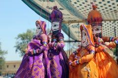 Marionetas la India Foto de archivo