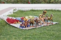 Marionetas la India indígena Rajasthán de la cadena Foto de archivo libre de regalías