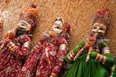 Marionetas multicoloras Imagen de archivo libre de regalías