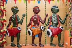 Marionetas populares tradicionales del músico Imagenes de archivo
