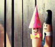 Marionetas preciosas del finger Fotografía de archivo