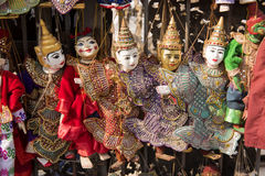 Marionetas tradicionales de la artesanía Fotos de archivo libres de regalías