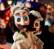 Marionete dos povos - imagem Personagem impressionante foto de stock royalty free