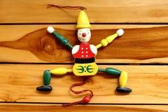 Marionete idoso do bozo do brinquedo Foto de Stock Royalty Free