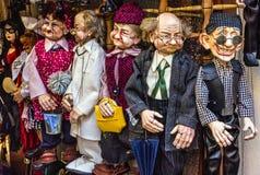 Marionetka sklep w Praga, republika czech Obraz Royalty Free
