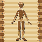 Marionetta di legno Fotografie Stock