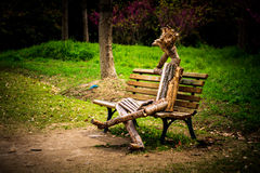 Marionette in der Melancholie lizenzfreie stockfotos