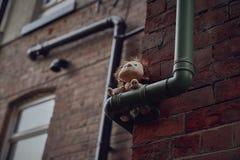 Marionette in der Straße stockfoto