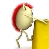 Marionette des Zeichens 3d steigt Stockfotos
