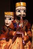 Marionette, die Musikinstrument spielt Lizenzfreie Stockfotografie