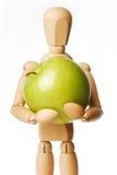Marionette e Apple imagens de stock royalty free