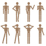 Marionette man set. Vector illustration Stock Photo