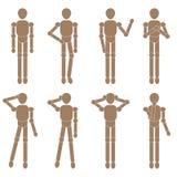 Marionette man set. Vector illustration Stock Photo