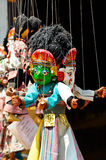 Marionette in Nepal stockfoto