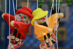 Marionette - puppet. Dolls on rope swing Stock Images