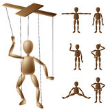 Marionette puppet set Stock Photo