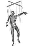 Marionette puppeteer Royalty Free Stock Photo