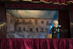 Marionette show. With Pulcinella in Giffoni Stock Photography