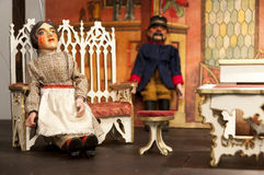 Marionette theater for children Stock Photos