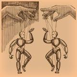 Marionette. Vektorformat Lizenzfreies Stockbild