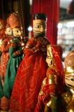 Marionetten auf Bildschirmanzeige, Delhi Stockfoto