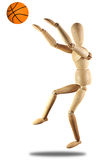 Marionetten-Basketball Stockfoto