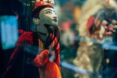 Marionetten in bijlage aan koord Stock Foto