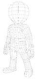 Marionetten 3d mens status Stock Afbeelding