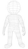 Marionetten 3d mens status Royalty-vrije Stock Afbeeldingen