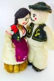 Marionetten en pompoenen Royalty-vrije Stock Fotografie
