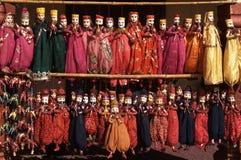 Marionetten für Verkauf Stockfotos