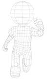 Marionetten het 3d mens lopen Stock Fotografie