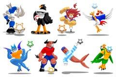 Marionetten van voetbal-illustratie-vectorpictogrammen Royalty-vrije Stock Foto's