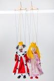 Marionetten von König und von Königin Stockbild