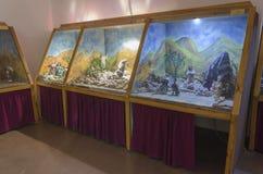 Marionettenmuseum in het centrum van de kunsten in Haifa Castra Stock Fotografie