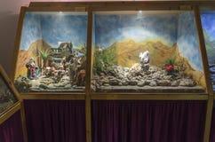Marionettenmuseum in het centrum van de kunsten in Haifa Castra Royalty-vrije Stock Foto