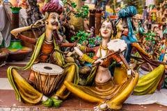Marionettenpuppenmusiker Lizenzfreies Stockbild
