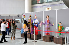 Marionettententoonstelling op de Franse Week van 2014 Stock Afbeeldingen