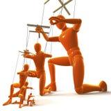 Marionettes, Figures stock illustration