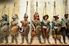 Marionettes museum in Palermo , Sicily, Italy Royalty Free Stock Photography