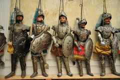 Marionettes museum in Palermo , Sicily, Italy Royalty Free Stock Photos