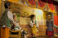 Marionettes in theater Royalty Free Stock Images