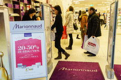Marionnaud perfumery Stock Image