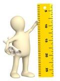 Marionnette avec la grille de tabulation de l'information Image stock